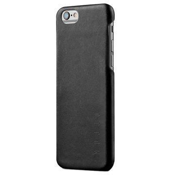 iPhone 6 Plus / 6S Plus Mujjo Kova Nahkakotelo Musta