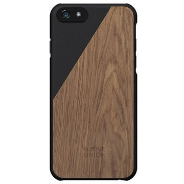 iPhone 6 Plus / 6S Plus Native Union Clic Wooden Puinen Suojakuori Musta