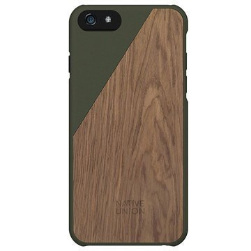 iPhone 6 Plus / 6S Plus Native Union Clic Wooden Puinen Suojakuori Olive