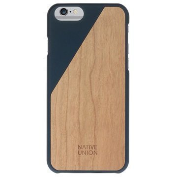 iPhone 6 Plus / 6S Plus Native Union Clic Wooden Puinen Suojakuori Tummansininen