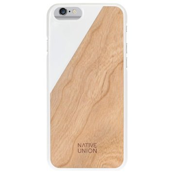 iPhone 6 Plus / 6S Plus Native Union Clic Wooden Puinen Suojakuori Valkoinen