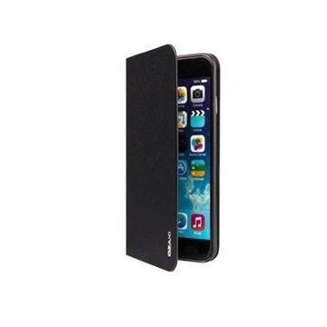 iPhone 6 Plus / 6S Plus Ozaki O!Coat 0.4 Folio Lompakkomallinen Nahkakotelo Musta