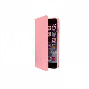 iPhone 6 Plus / 6S Plus Ozaki O!Coat 0.4 Folio Lompakkomallinen Nahkakotelo Pinkki