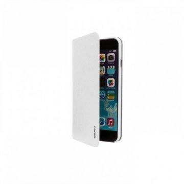 iPhone 6 Plus / 6S Plus Ozaki O!Coat 0.4 Folio Lompakkomallinen Nahkakotelo Valkoinen
