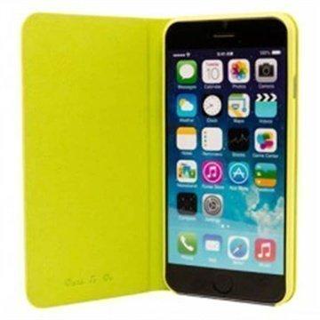 iPhone 6 Plus / 6S Plus Ozaki O!Coat 0.4 Folio Lompakkomallinen Nahkakotelo Wasabi