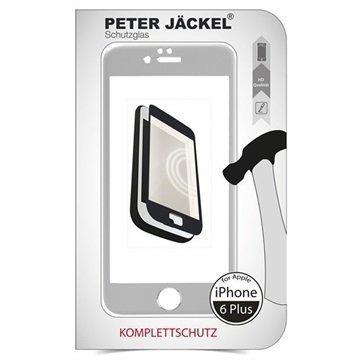 iPhone 6 Plus / 6S Plus Peter Jäckel Koko Näytön HD Lasi Näytönsuoja Hopea