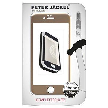 iPhone 6 Plus / 6S Plus Peter Jäckel Koko Näytön HD Lasi Näytönsuoja Kulta