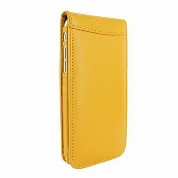 iPhone 6 Plus / 6S Plus Piel Frama Classic Magnetic Nahkakotelo Keltainen