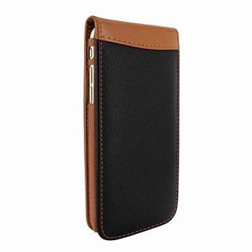 iPhone 6 Plus / 6S Plus Piel Frama Classic Magnetic Nahkakotelo Musta / Tan