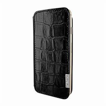 iPhone 6 Plus / 6S Plus Piel Frama FramaSlim Nahkakotelo Krokotiili Musta