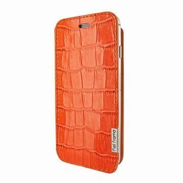 iPhone 6 Plus / 6S Plus Piel Frama FramaSlim Nahkakotelo Krokotiili Oranssi