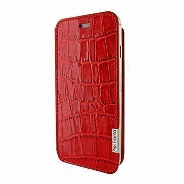 iPhone 6 Plus / 6S Plus Piel Frama FramaSlim Nahkakotelo Krokotiili Punainen