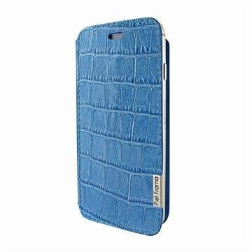 iPhone 6 Plus / 6S Plus Piel Frama FramaSlim Nahkakotelo Krokotiili Sininen