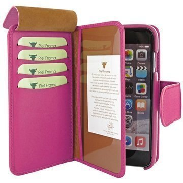 iPhone 6 Plus / 6S Plus Piel Frama iMAGNUM Lompakkomallinen Nahkakotelo Fuksia