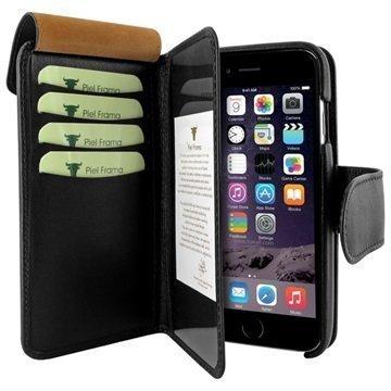 iPhone 6 Plus / 6S Plus Piel Frama iMAGNUM Lompakkomallinen Nahkakotelo Musta