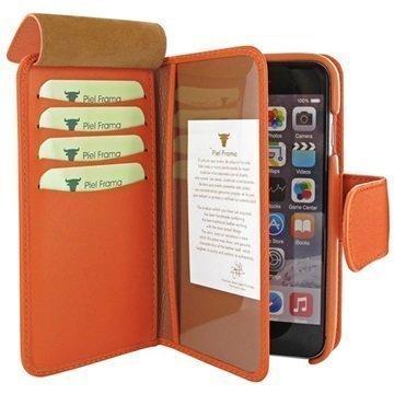 iPhone 6 Plus / 6S Plus Piel Frama iMAGNUM Lompakkomallinen Nahkakotelo Oranssi