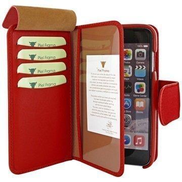 iPhone 6 Plus / 6S Plus Piel Frama iMAGNUM Lompakkomallinen Nahkakotelo Punainen