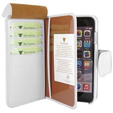 iPhone 6 Plus / 6S Plus Piel Frama iMAGNUM Lompakkomallinen Nahkakotelo Valkoinen