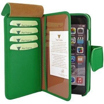 iPhone 6 Plus / 6S Plus Piel Frama iMAGNUM Lompakkomallinen Nahkakotelo Vihreä