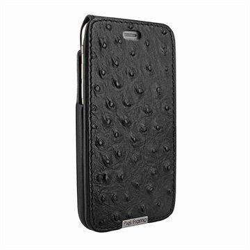 iPhone 6 Plus / 6S Plus Piel Frama iMagnum Nahkainen Suojakotelo Ostrich -kuvioitu musta