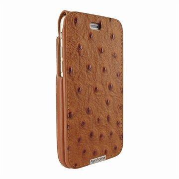iPhone 6 Plus / 6S Plus Piel Frama iMagnum Nahkainen Suojakotelo Ostrich -kuvioitu ruskea