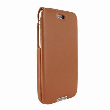 iPhone 6 Plus / 6S Plus Piel Frama iMagnum Nahkakotelo Kellanruskea