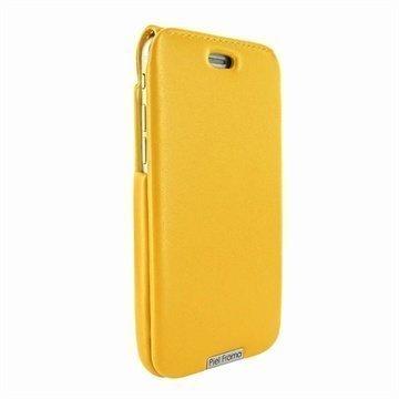 iPhone 6 Plus / 6S Plus Piel Frama iMagnum Nahkakotelo Keltainen