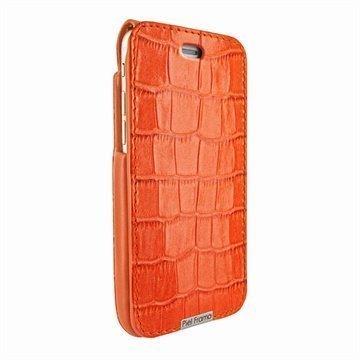 iPhone 6 Plus / 6S Plus Piel Frama iMagnum Nahkakotelo Krokotiili Oranssi