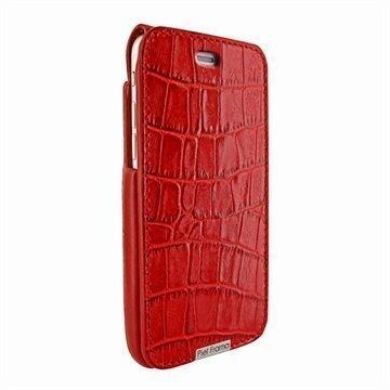 iPhone 6 Plus / 6S Plus Piel Frama iMagnum Nahkakotelo Krokotiili Punainen