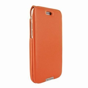 iPhone 6 Plus / 6S Plus Piel Frama iMagnum Nahkakotelo Oranssi