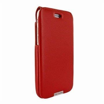 iPhone 6 Plus / 6S Plus Piel Frama iMagnum Nahkakotelo Punainen