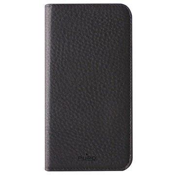 iPhone 6 Plus / 6S Plus Puro Magnetic Lompakkomallinen Nahkakotelo Musta