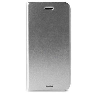 iPhone 6 Plus / 6S Plus Puro Wallet Nahkakotelo Hopeinen