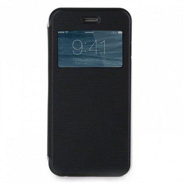 iPhone 6 Plus / 6S Plus Skech Slim View Läppäkotelo Musta / Kirkas