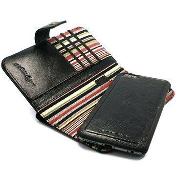 iPhone 6 Plus / 6S Plus Tuff-luv Alston Craig Lompakkomallinen Nahkakotelo Musta