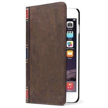 iPhone 6 Plus / 6S Plus Twelve South BookBook Nahkainen Lompakkokotelo Ruskea