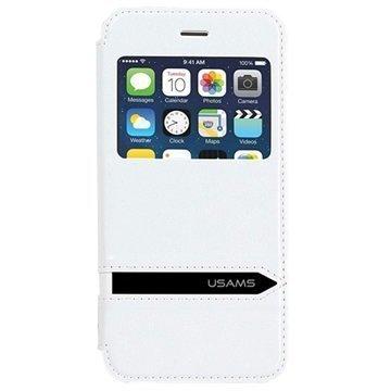 iPhone 6 Plus / 6S Plus Usams Merry Series Ikkunallinen Kotelo Valkoinen