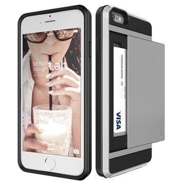 iPhone 6 Plus / 6S Plus VRS Design Damda Slide Kotelo Vaalea Hopea