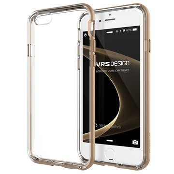 iPhone 6 Plus / 6S Plus VRS Design New Crystal Bumper Series Kotelo Hohtava Kulta