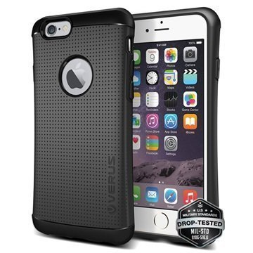 iPhone 6 Plus / 6S Plus Verus Thor Hard Drop Series Kotelo Hiilenmusta