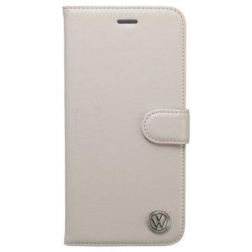 iPhone 6 Plus / 6S Plus Volkswagen Kirjamallinen Nahkakotelo Valkoinen