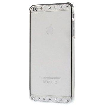 iPhone 6 Plus / 6S Plus X-Fitted Swarovski Crystal Suojakotelo Koristenauha Hopeinen