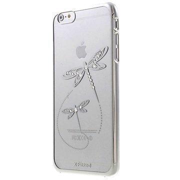 iPhone 6 Plus / 6S Plus X-Fitted Swarovski Crystal Suojakotelo Sudenkorento Hopeinen