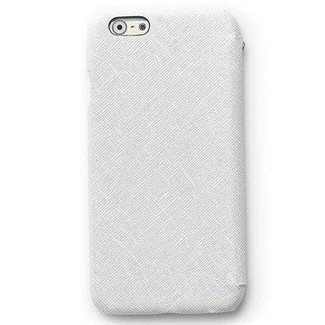 iPhone 6 Plus / 6S Plus Zenus Prestige Minimal Diary Nahkainen Suojakotelo Valkoinen