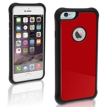 iPhone 6 Plus / 6S Plus iGadgitz Bumper Kova Kotelo Punainen