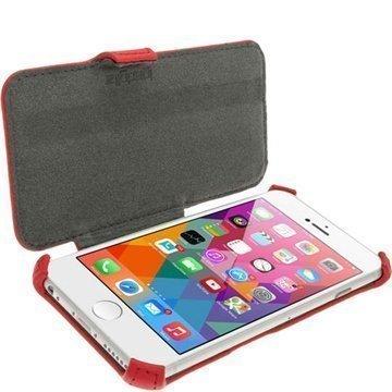 iPhone 6 Plus / 6S Plus iGadgitz Flip Nahkakotelo Punainen