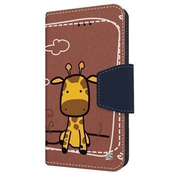 iPhone 6 Plus Beyond Cell Infolio Design Nahkainen Lompakkokotelo Giraffe