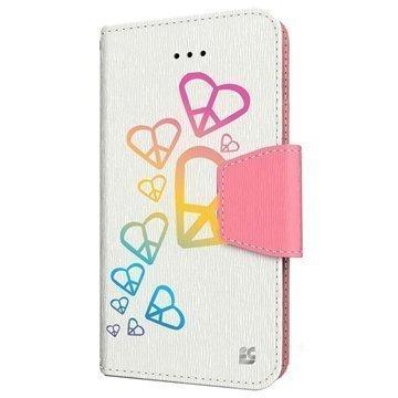 iPhone 6 Plus Beyond Cell Infolio Design Nahkainen Lompakkokotelo Sateenkaarisydän