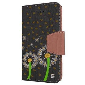iPhone 6 Plus Beyond Cell Infolio Design Nahkainen Lompakkokotelo Voikukkarakkaus