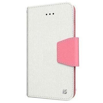 iPhone 6 Plus Beyond Cell Infolio Nahkainen Lompakkokotelo Valkoinen / Pinkki